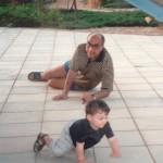 مع حفيدى حسن